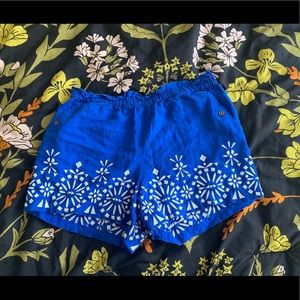 Embroidered shorts with pockets!